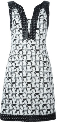 Chanel Pre Owned Geometric Jacquard Dress