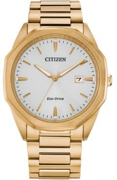 Citizen Eco-Drive Men's Corso Gold-Tone Stainless Steel Bracelet Watch 41mm