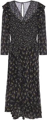 Bailey 44 Ophelia Wrap-effect Ruffle-trimmed Printed Georgette Midi Dress