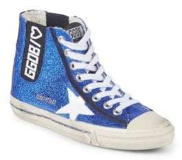 Golden Goose High-Top Leather Logo Sneakers