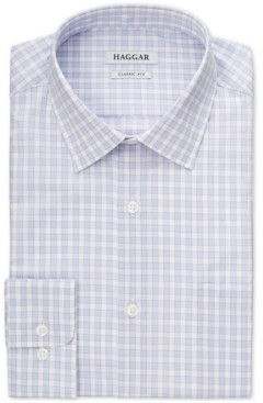 Haggar Men's Slim-Fit Comfort Stretch Check Dress Shirt
