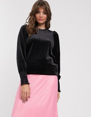 InWear Oriel velvet blouse