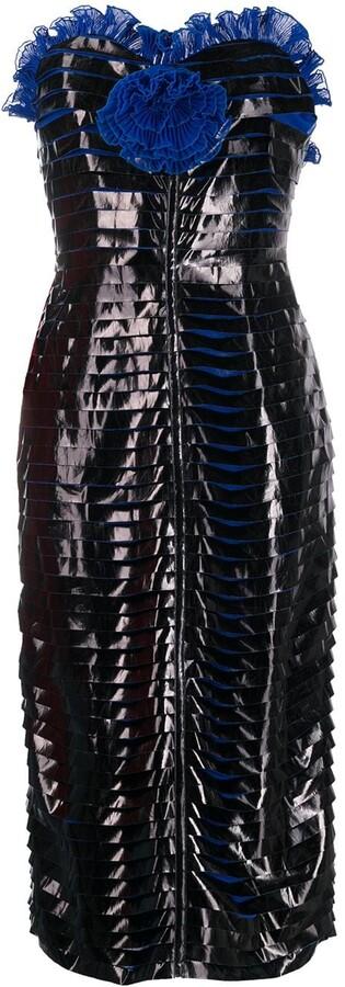 Thumbnail for your product : Marco De Vincenzo Bustier Vinyl Dress