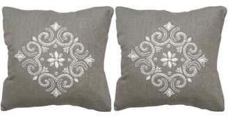 "Safavieh Regina Linen Throw Pillow Size: 20"" H x 20"" W x 2.5"" D"