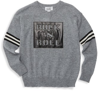 Autumn Cashmere Girl's Rock And Roll Crew Sweater