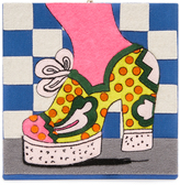 Olympia Le-Tan Polka Dot Shoe Clutch