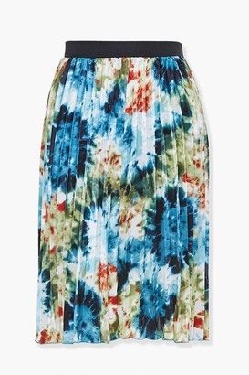 Forever 21 Plus Size Pleated Floral Skirt
