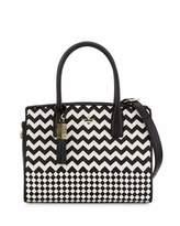 Kate Spade Ridley Street Blanca Woven Satchel Bag, Black/Cememt