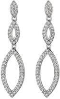 Nadri Crystal Pave Linear Crest Drop Earrings