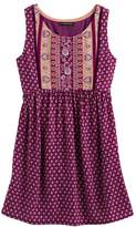 My Michelle Girls 7-16 Printed Tie-Back Dress