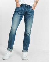 Express classic slim medium wash stretch+ jeans