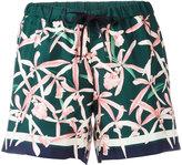 Moncler floral print shorts - women - Silk - 44