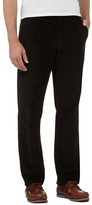 Maine New England Big And Tall Black Pleat Front Corduroy Trousers