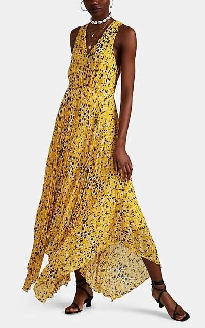 Derek Lam 10 Crosby Women's Abstract-Dot-Print Pleated Dress - Yellow