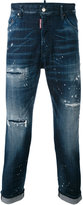 DSQUARED2 distressed skinny jeans - men - Cotton/Spandex/Elastane/Wool - 44