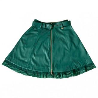 Patrizia Pepe Turquoise Leather Skirt for Women