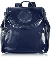 Armani Jeans Faux Patent Leather Backpack