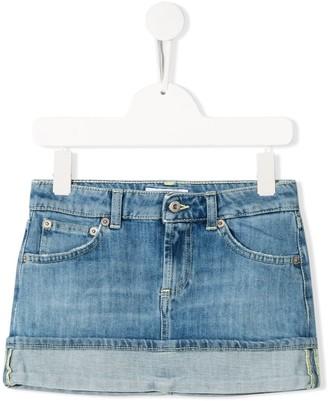Dondup Kids Turned Hem Denim Skirt