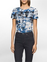 Calvin Klein Ribbed Splatter Top