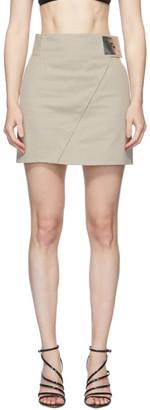Coperni Beige High-Waisted Asymmetric Skirt