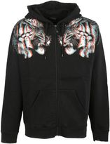 Marcelo Burlon County of Milan Tiger Print Zipped Hoodie