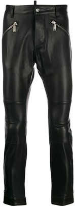 DSQUARED2 Slim Fit Leather Trousers
