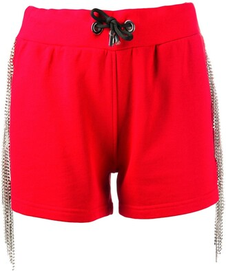 Philipp Plein Crystal-Embellished Track Shorts