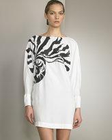 Cowl-Back Silk Dress