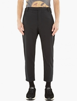 Matthew Miller Black Wool-Twill Marlboro Trousers