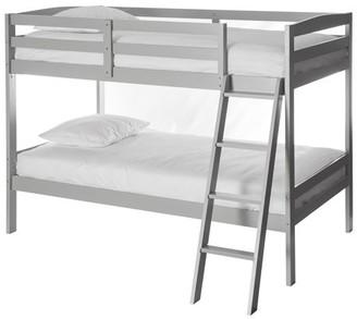 Dream On Me Logan mini Twin over Twin Bunk Bed, Grey