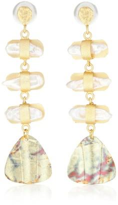PEET DULLAERT Aroda 14k gold-plated earrings with pearls