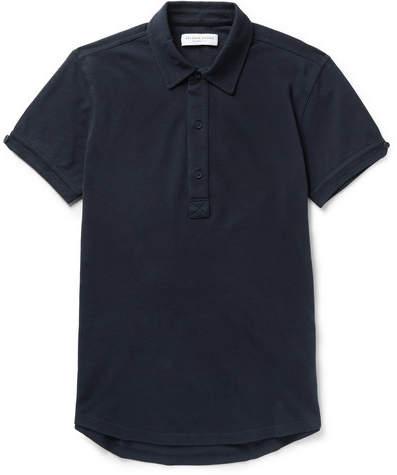 Orlebar Brown Sebastian Slim-fit Cotton-pique Polo Shirt - Navy