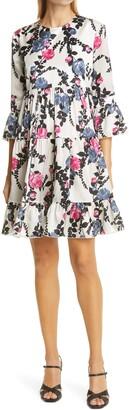 La DoubleJ Bambi Floral Silk Babydoll Dress