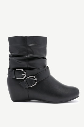 Ardene Buckled Wedge Ankle Boots