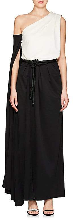 Marc Jacobs WOMEN'S COLORBLOCKED JERSEY SCARF-NECK GOWN