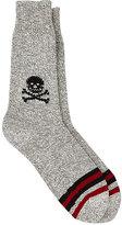 Corgi Men's Skull-Print Crew Socks-BLACK