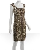 dark chocolate leopard print 'Jordana' dress