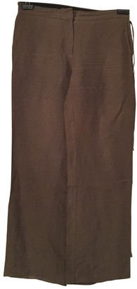 Joseph \N Brown Linen Trousers