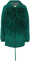 No.21 feather applique jacket - women - Cotton/Viscose/Ostrich Feather - 40