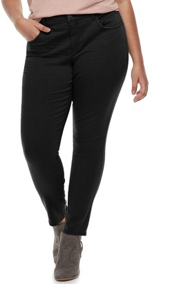 So Juniors' Plus Size Low-Rise Twill Jeggings