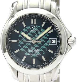 Omega Blue Stainless Steel Seamaster 120M Jacques Mayol Ltd Edition 2508.80 Men's Wristwatch 36 MM