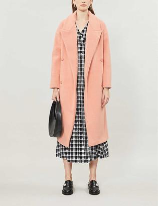 Topshop Dalia double-breasted woven coat