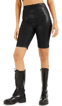 INC International Concepts Culpos X Inc Faux-Leather Biker Shorts, Created for Macy's