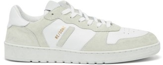 RE/DONE 80s Basketball Leather And Suede Trainers - White