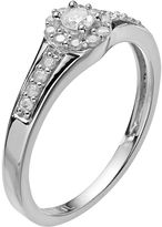 Diamond essentials platilite 1/4-ct. t.w. diamond promise ring
