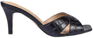 Siren Dusty Black Croc Sandal
