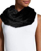 Jocelyn Rabbit Fur Infinity Scarf, Black