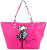 Love Moschino doll patch shopping bag