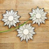 Metallic Flower Mirror Wall Art