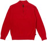 E-Land Kids Red Quarter-Zip Sweater - Toddler